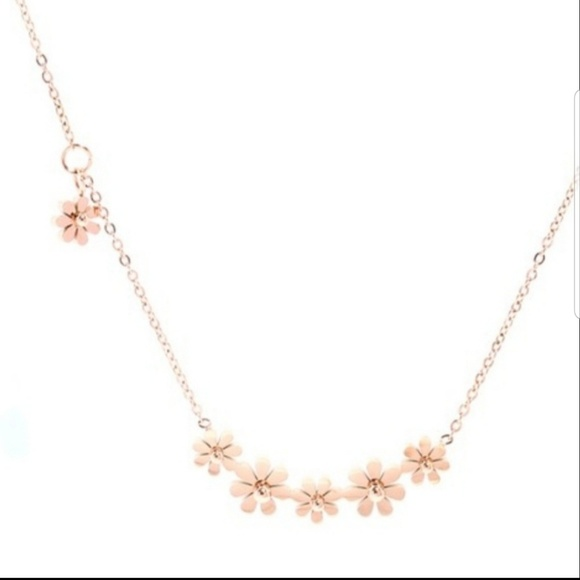 Anavia Jewelry - OLIVE LEAF BRANCH ROSE GOLD NECKLACE